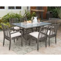 Panama Jack® Graphite 7-Piece Outdoor Dining Set in Grey