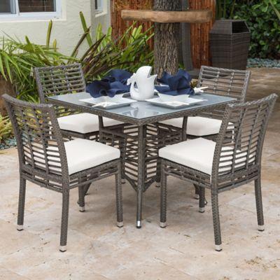 Panama Jack® Graphite 5 Piece Outdoor Dining Set In Grey