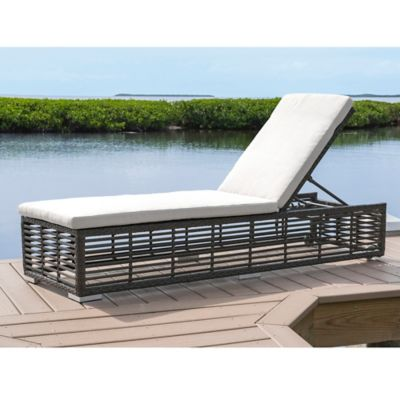 Panama Jack Graphite Outdoor Chaise Lounge With Wheels In Grey