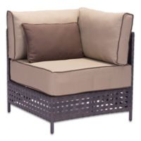 Zuo® Pinery Outdoor Corner Chair in Brown/Beige