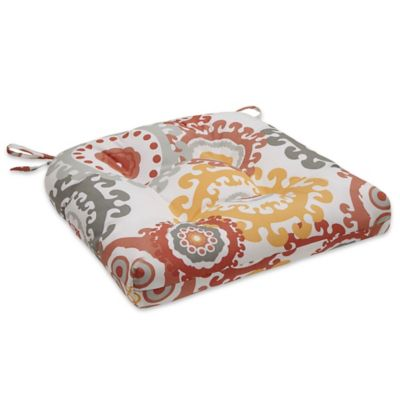 Madison Park Laguna Medallion Outdoor Seat Cushion In Coral