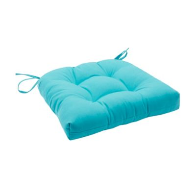 Madison Park Pacifica Outdoor Square Seat Cushion In Aqua