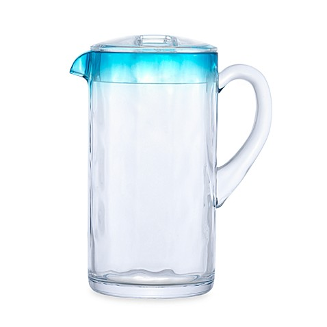 Reflections 2-Quart Pitcher with Lid in Blue Acrylic