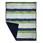 Burt's Bees Baby® Watercolor Stripe Organic Cotton Quilt in Midnight Navy
