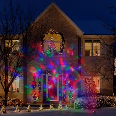 Buy plastic outdoor holiday decorations from bed bath beyond lightshow light confetti projection aloadofball Images