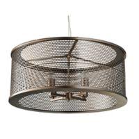 Varaluz® Lit-Mesh Test 4-Light Pendant in Bronze