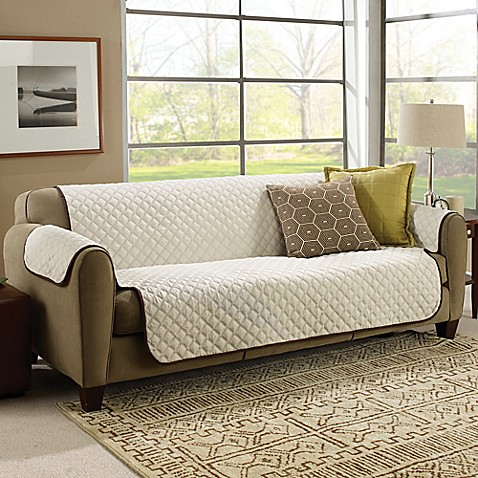 Astv couchcoat furniture cover in crown cream bed bath - Forro para sofas ...