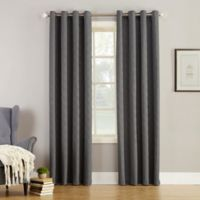Simon 63-Inch Grommet Top Room Darkening Window Curtain Panel in Charcoal
