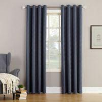 Simon 84-Inch Grommet Top Room Darkening Window Curtain Panel in Indigo