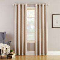 Simon 84-Inch Grommet Top Room Darkening Window Curtain Panel in Linen