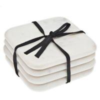 Godinger Marble Coasters in White (Set of 4)
