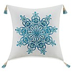 Jessica Simpson Home Aquarius Medallion Square Throw Pillow in Blue