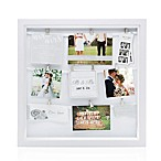 Pearhead® Mr. & Mrs. 9-Photo Clip Collage Frame in White