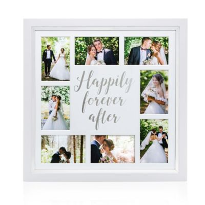 Wedding Photo Frames.Pearhead Happily Ever After 8 Photo Collage Frame In White