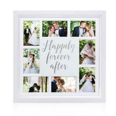Pearhead® Happily Ever After 8-Photo Collage Frame in White