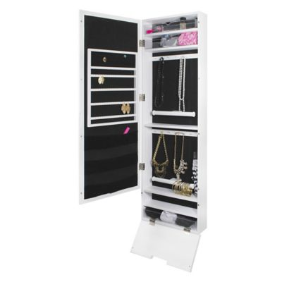Exceptionnel Door Solutions™ Mirror Jewelry And Accessory Organizer In White