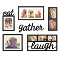 "WallVerbs® 6-Piece ""Eat Gather Laugh"" Photo Frame Set"