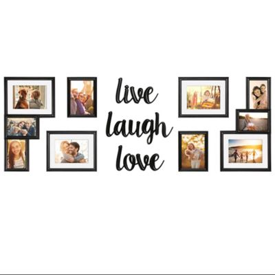 wallverbs 9 piece live love laugh photo frame set