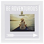 Sentiments Adventure-Theme Illuminated Square Float Picture Frame With Clip in White