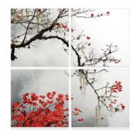Elementem Photography 3-Panel 28-Inch x 28-Inch Photographic Wall Art of Autumn Branch