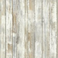 "Roommates ""Distressed Wood"" Peel & Stick Wall Décor in Neutral"