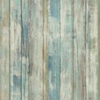 "Roommates ""Distressed Wood"" Peel & Stick Wall Décor in Blue"