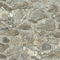 "Roommates ""Weathered Stone"" Peel & Stick Wall Décor in Grey/Almond"