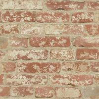 "Roommates ""Stuccoed Brick"" Peel & Stick Wall Décor in Red"