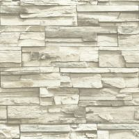 "Roommates ""Stacked Stone"" Peel & Stick Wall Décor in Grey"
