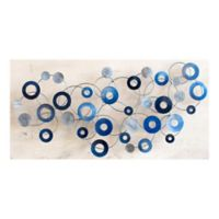 """Fiesta Blue"" 44-Inch x 24-Inch Metal Wall Art"