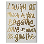 "Wynwood Studio ""Laugh/Love"" 18-Inch x 24-Inch Canvas Wall Art"