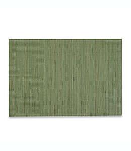 Mantel individual de bambú en verde