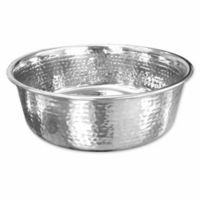 16 oz. Hammered Stainless Steel Bowl in Silver