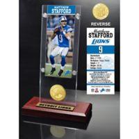 NFL Detroit Lions Matthew Stafford Ticket and Team Coin Desktop Display