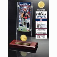 Julian Edelman Ticket & Bronze Coin Acrylic Desk Top