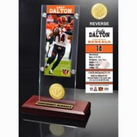 NFL Cincinnati Bengals Andy Dalton Ticket and Team Coin Desktop Display