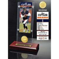 NFL Chicago Bears Jay Cutler Ticket and Team Coin Desktop Display