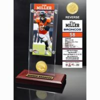 NFL Denver Broncos Von Miller Ticket and Team Coin Desktop Display