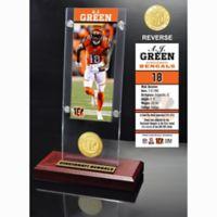 NFL Cincinnati Bengals A.J. Green Ticket and Team Coin Desktop Display