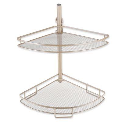 ORG™ Adjusting Corner Bathroom Shelves In Matte Nickel