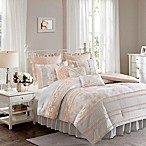 Madison Park Serendipity Queen Duvet Cover Set in Coral