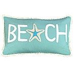 Beach Oblong Throw Pillow in Capri Blue