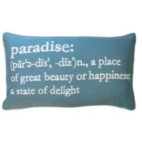 Paradise Definition Oblong Throw Pillow in Blue