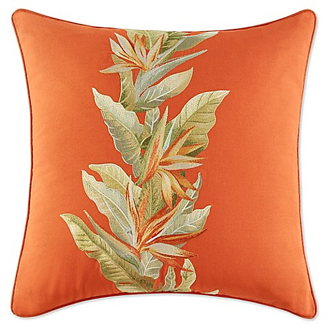Newport Throw Pillows Birds : Tommy Bahama Birds of Paradise Square Throw Pillow in Spice - Bed Bath & Beyond