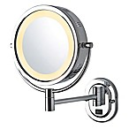 Jerdon® 8-Inch Round Lighted Wall Mount Mirror in Chrome