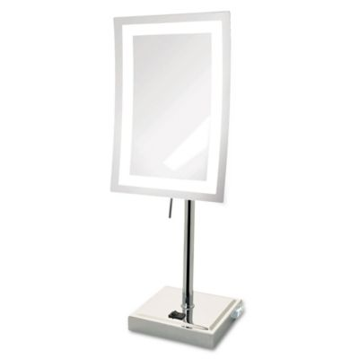 High Quality Jerdon® 5x LED Tabletop Mirror In Chrome