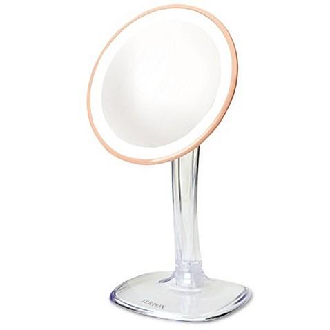 Jerdon 174 Led Adjustable Makeup Mirror In Rose Gold Bed
