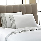 Laundry by Shelli Segal® 300-Thread-Count Printed Cuff Queen Sheet Set in White/Grey