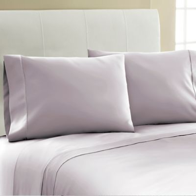 laundry by shelli segal 300 thread count solid queen sheet set in lilac - Liliac Bedding