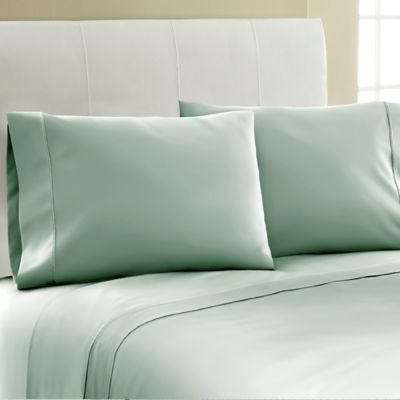 Good Laundry By Shelli Segal® 300 Thread Count Queen Solid Sheet Set In Green